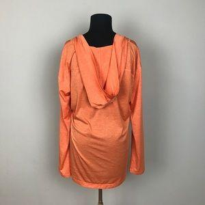 Zella Tops - ZELLA pullover hooded long sleeved top orange XL